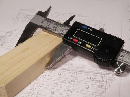 marqueteria: medición de precisión de madera