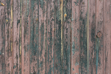 Background in style a rustic from old bare wooden painted boards Standard-Bild