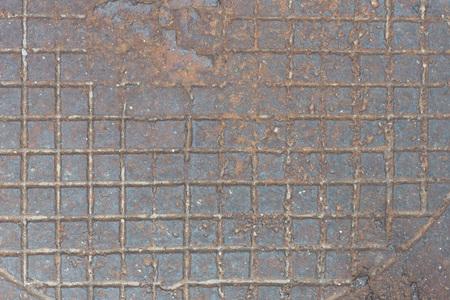 Фон из ржавого чугуна с вывернутым рельефным рисунком