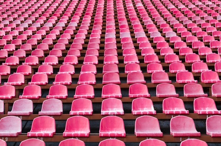grandstand: seats for spectators in the stadium located in the geometric pattern Stock Photo