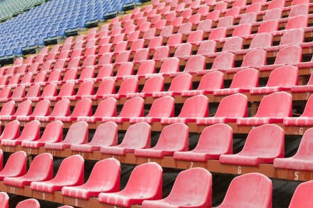 seat for spectators in the stadium located in the geometric pattern photo