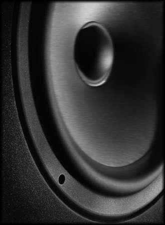 Blurred speaker black and white