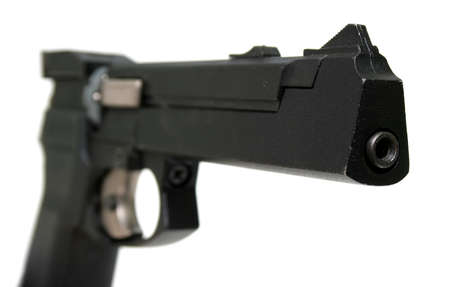 Gun isolated on white background. photo