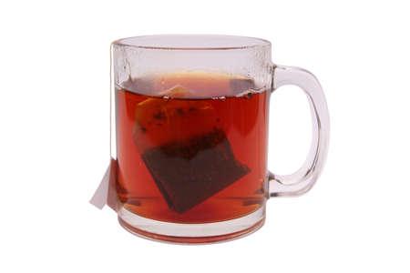 Tea cup with tea bag