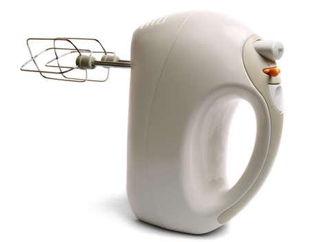 batteur �lectrique: M�langeur �lectrique isol� sur fond blanc. Banque d'images