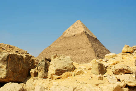 Egyptian pyramid on sky background Stock Photo - 13898183