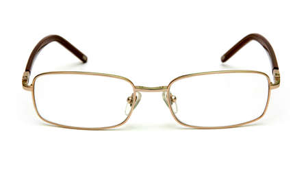 opthalmology: New glasses isolated on white.