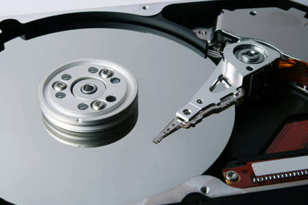 diskdrive: Hard disk drive isolated on white