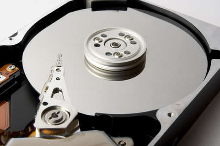 diskdrive: Hard disk isolated on white