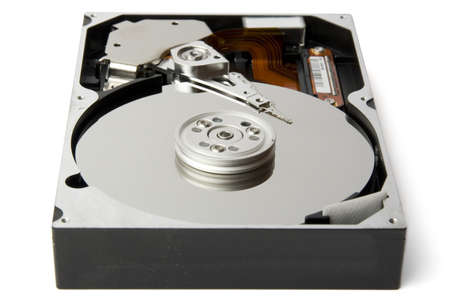Hard disk isolated on white photo