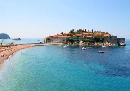 sveti: Sveti Stefan island in Montenegro.