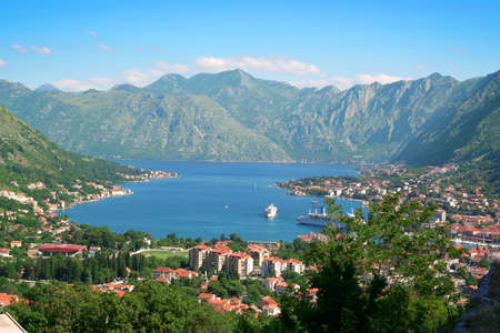 Panoramic view on Kotor, Montenegro. photo