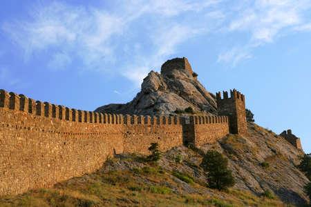 Ancient genoa fortress in Sudak, Ukraine. Stock Photo - 15246907