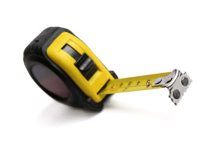 Measuring tape isolated on white. photo