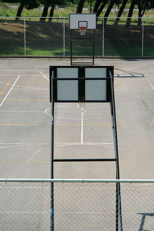 Empty basketball court in the park photo
