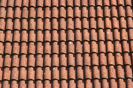 Red roof tile pattern photo. photo
