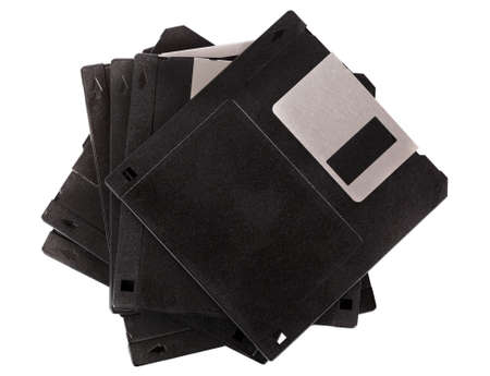 Stack of floppy disks isolated on white Stock Photo - 16019468
