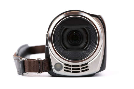 Amateur digital camera isolated on white photo