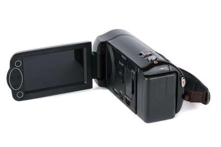 Amateur digital camera isolated on white