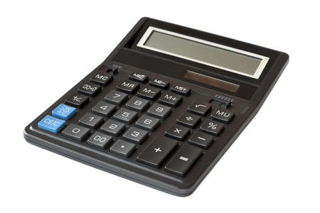 Calculator isolated on white background Stock Photo - 16024390