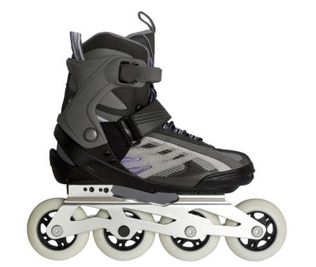 inline skates: Inline skate isolated on white Stock Photo