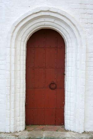 Metal door in the wall photo