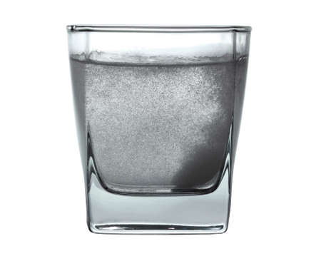 painkiller: Pill in glass of water
