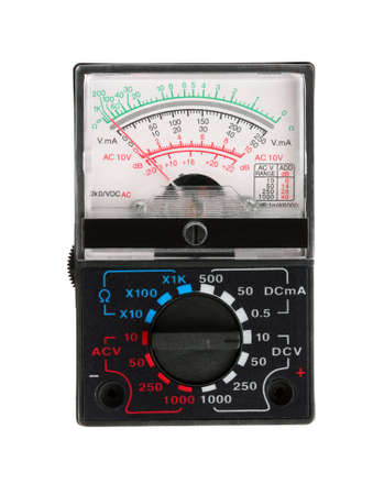 Analog multimeter isolated on white photo