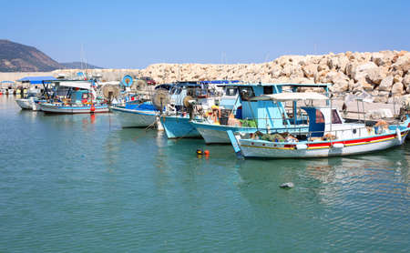 Old fishing boats in the harbour