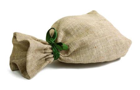 Small sack isolated on white photo