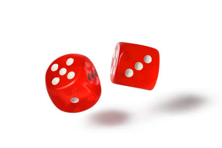 red dice: Red dice isolated on white