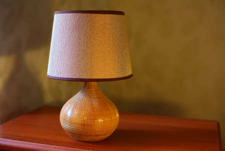 bedside lamp: Bedside lamp on the table