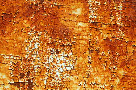 rusty metal texture: Aged painted rusty metal texture Stock Photo