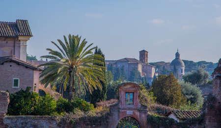 Italienska landskap på sommaren