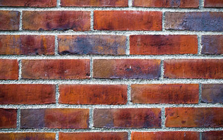 Colorful brick wall made of clay stones and mortar   Stock Photo - 18266843