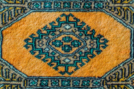 Colorful Persian carpet with beautiful patterns