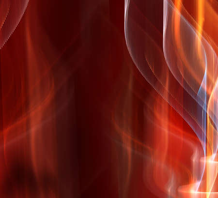 Nice deep red tech fractal background Stock Photo - 1648013