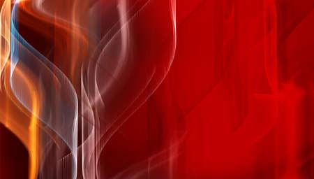 Nice deep red tech fractal background photo