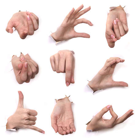 A series Gestures of hands .  Stock Photo - 2075518