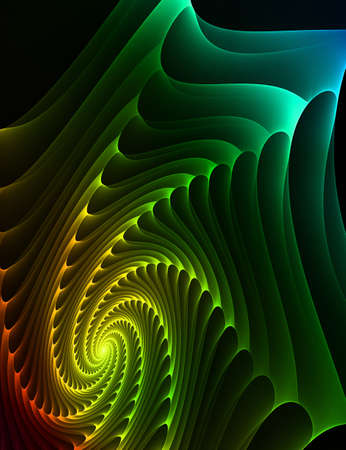 Fractal generated nice Design or art element photo