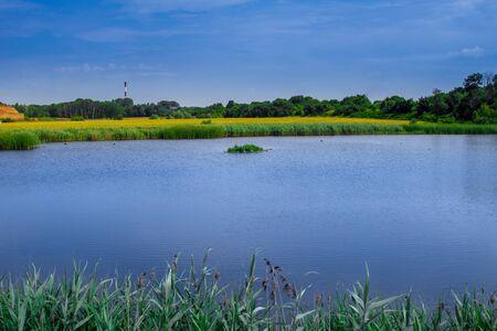 Bytom Frog pits. Landscape of the Bytom Park. Cool