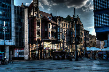 Katowice city landscape photos taken in HDR. Cool