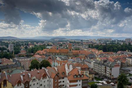 Panorama of Klodzko downtown, Lower Silesia, Poland.