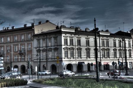 Krakow, Poland November 22, 2020 Krakow city center during the pandemic. Late autumn.