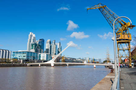argentine: Harbor Puerto Madero Buenos Aires Argentine skyline and ships
