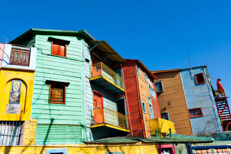la boca: Colorful neighborhood La Boca, Buenos Aires Argentina