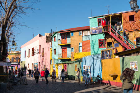 Colorful neighborhood La Boca, Buenos Aires Argentina