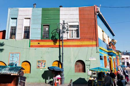 Colorful neighborhood La Boca, Buenos Aires Argentina
