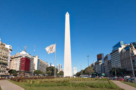 The Obelisk of Buenos Aires was built in 1936 to celebrate the 400th anniversary of the city founding Alberto Prebisch