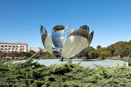 metal sculpture: The Floralis Generica is a metal sculpture in the square of the United Nations and was designed from Eduardo Catalano